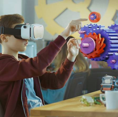 Augmented Reality for Education Industry, 3D Visual Animations, Interactions and Clicks