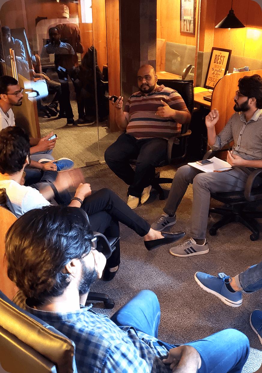 Cubix Mobile App Designers Discussion on Project